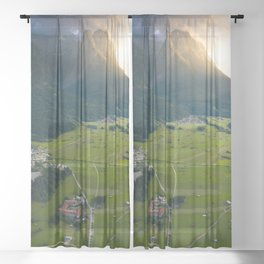 Landscape of Germany Sheer Curtain