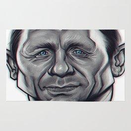 Daniel Craig as James Bond / B&W Variant Rug