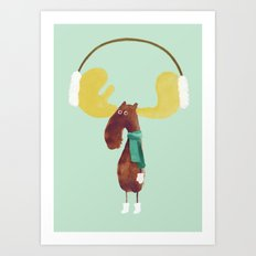 This moose is ready for winter Art Print