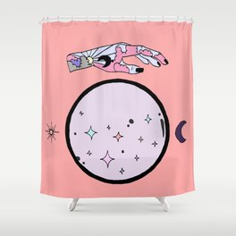 Let The Universe Guide You Shower Curtain