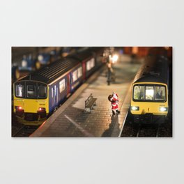 Santa goes to Exmouth Canvas Print