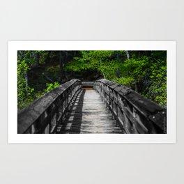 Burney Loop Bridge Art Print
