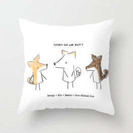 Our Shibal Inu - When do we eat? Throw Pillow