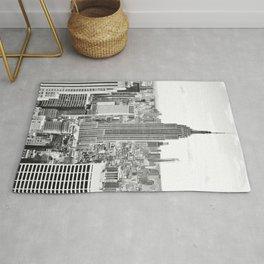 New York City, Manhattan (Black & White) Rug