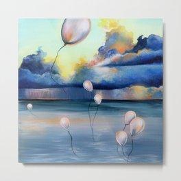 Balloons Over Water Metal Print