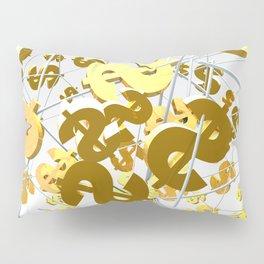 Golden dollar sign Pillow Sham