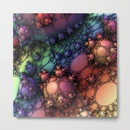 Rainbow bubble chrome Metal Print