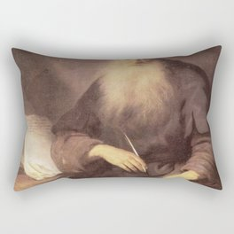 Rembrandt - St Paul writing to the Thessalonians Rectangular Pillow