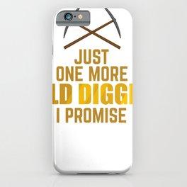 Gold Prospector Digger Digging Tool Shovel Gift iPhone Case