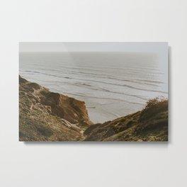 Cliffs at Torrey Pines Metal Print