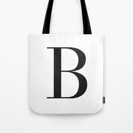 'B' Initial Tote Bag