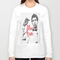 scarface Long Sleeve T-shirts featuring SCARFACE by I Love Decor