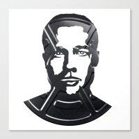 brad pitt Canvas Prints featuring Brad Pitt by Alejandro de Antonio Fernández