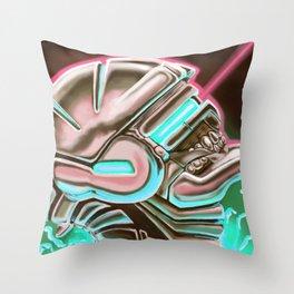 Sentient Machines of Metal & Circuitry Throw Pillow