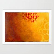 Pattern in a sandstorm Art Print
