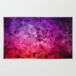 Ultra Violet Diamond Rainbow Rug