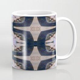 Fringed Petals on Peach Flower Pattern Coffee Mug