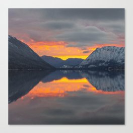 lake_sunset Canvas Print