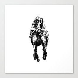 Racehorse Sketch Canvas Print