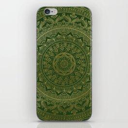 Mandala Royal - Green and Gold iPhone Skin