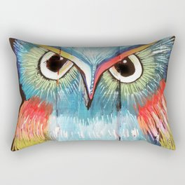 Colorful Owl Rectangular Pillow
