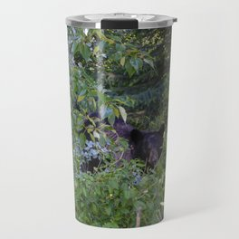 Mother bear hides in the trees- Canadian Rocky Mountains Travel Mug