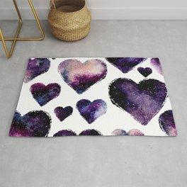 Galaxy Hearts Pattern Rug