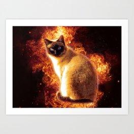 Flame Cat Art Print