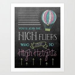 High Heights Art Print