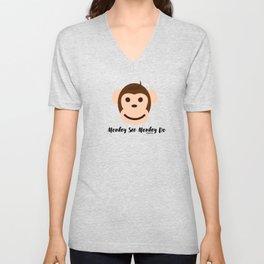 Monkey See Monkey Do by Bagaceous Unisex V-Neck