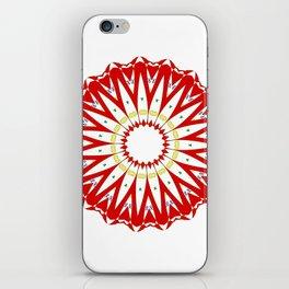 Mandala with colon cancer ribbon iPhone Skin
