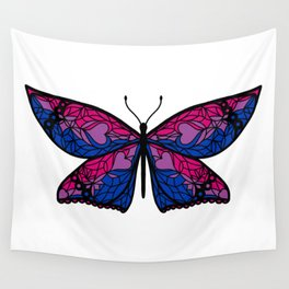 Fly With Pride: Bisexual Flag Butterfly Wall Tapestry