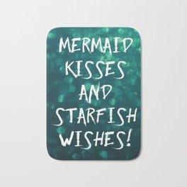 Mermaid Kisses and Starfish Wishes Bath Mat