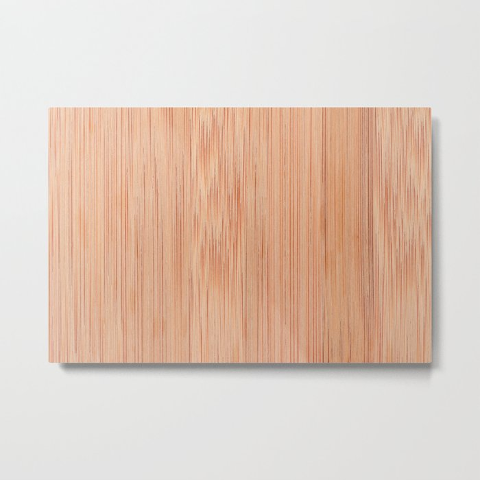 Scratched bamboo chopping board Metal Print
