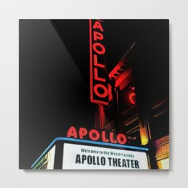 Harlem's Apollo Theater Portrait Painting Metal Print