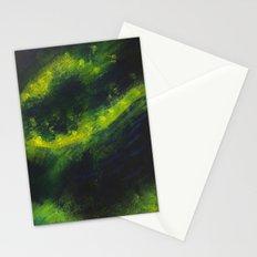 Green Galaxy Stationery Cards