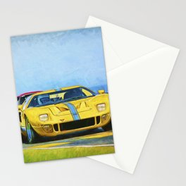 Yellow Ford GT40 Stationery Cards