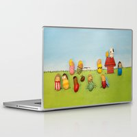 peanuts Laptop & iPad Skins featuring Real Peanuts by Phil Jones