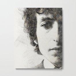 Bob Dylan portrait 02 Metal Print