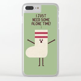Angry Sock Clear iPhone Case