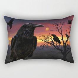 Raven Sunset Rectangular Pillow