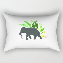 Thai Elephant Rectangular Pillow