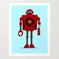 Robo Friend Art Print