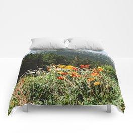 Mountain garden Comforters