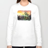 jedi Long Sleeve T-shirts featuring Gerbil Jedi by Wesley S Abney