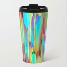 Colorful digital art splashing G505 Travel Mug