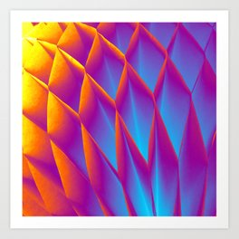 Hot & Cold. Fashion Textures Art Print