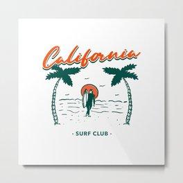 California Surf Club Metal Print