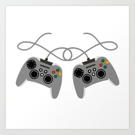 """Great Nice Game Shirt For Gamers """"I Level Up Big Bro"""" T-shirt Design Console  Art Print"""