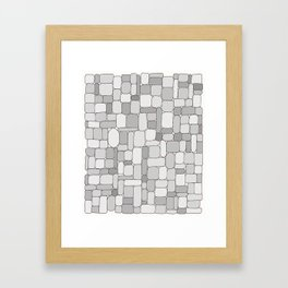 Stone Wall #4 - Grays Framed Art Print